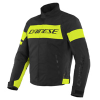 DAINESE SAETTA D-DRY BLACK / YELLOW MOTORCYCLE JACKET - EU 50/52/54/56/58