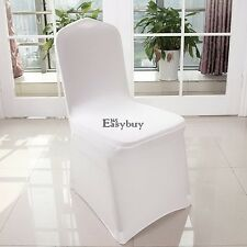 100pcs Wholesale Universal White Polyester Spandex Wedding Chair Covers