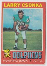 1971 TOPPS LARRY CSONKA MIAMI DOLPHINS CARD #45 EX+ CONDITION