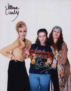 JOANNA LUMLEY & JULIE SAWALHA - ABSOLUTELY FABULOUS - AUTOGRAPHED 10x8 PHOTO COA