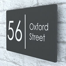 More details for modern house plaques / plaque / door / number / aluminium / wall sign