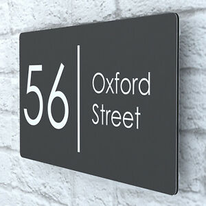 Modern HOUSE PLAQUES / PLAQUE / DOOR / NUMBER / ALUMINIUM / Wall Sign