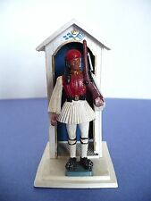Vintage Greek Evsona Soldier w Guard House Toy Aohna 1960's Made in Greece