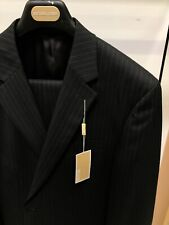 NWT Michael Kors 48L Black and White Designer Suit Classic Pinstriped Polyrayon
