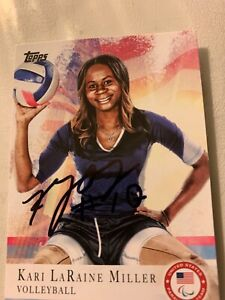 KARI LARAINE MILLER AUTOGRAPHED VOLLEYBALL  CARD
