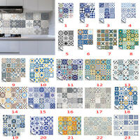 20Pcs Waterproof Tile Stickers Kitchen Bathroom Self-adhesive Wall Sticker Decor
