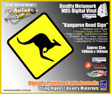 Kangaroo Ahead Australian Road Sign Sticker - Car, Truck, Caravan, Australia