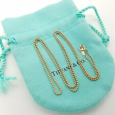 """Tiffany & Co. 18K Rose Gold Beaded Toilet Chain Necklace 20"""" in w/ Pouch"""