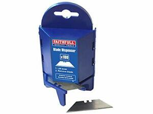 Faithfull H/Duty Trim Knife Blades (Box) 100 Pieces | Brand New | free and fast