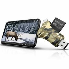 Trail Camera Viewer SD Card Reader  4 in 1 SD and Micro SD Memory Card Reader