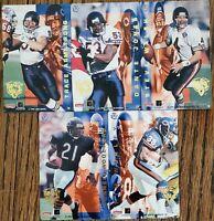 1995 Pro Magnets Chicago Bears 5 Football Card Team Set WALSH ARMSTRONG JONES