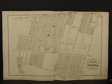 New York Long Island Map 1873 East New York, Double Page N3#83