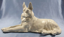ac schäferhund Hund hundefigur porzellanfigur Schierholz Plaue  figur weißer