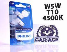 Philips W5W T10 LED Vision Interior 127914000KB2 Pure White 4500K 12V w2.1x9.5d