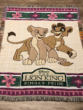 Disney The Lion King Throw Blanket Tapestry Woven Simba Cub Vintage 90's