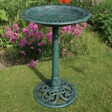 Pedestal Bird Bath Garden Decor, Ornament Garden Bird Feeder Statue Free postage