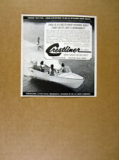 1967 Crestliner Commodore Speedster 14 Boat waterskiing photo vintage print Ad