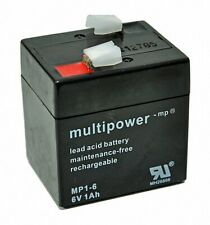 Multipower Bleigel Akku Bleiakku Bleigelakku 6V/1Ah MP1-6 A206/1,0S WP1-6 AGM