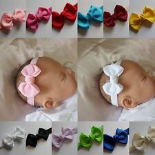 Baby Headband Hairband Soft Elastic baby headbands Bow Hair Accessories  4 sizes