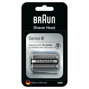 GENUINE BRAUN 83M SHAVER REPLACEMENT HEAD FOR SERIES 8 - SILVER