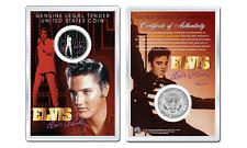ELVIS PRESLEY - Comeback OFFICIAL JFK Half Dollar U.S. Coin in PREMIUM HOLDER