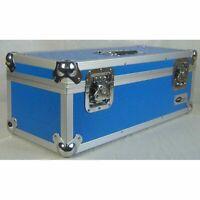 """Neo 7"""" Inch LP 300 Vinyl Record Aluminium Flight DJ Storage Case Blue Color UK"""