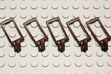 NEW LEGO - Figure Accessory - Castle Dark Brown Scabbard x 5 Gear Sword Holder