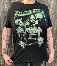 Too Fast FRANKIE'S RUIN Horror Punk Unisex T Shirt (L) Rockabilly Frankenstein