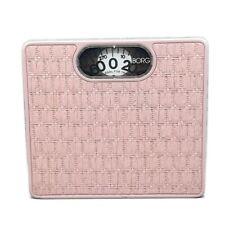 BORG Pink Wicker Vintage Bathroom Scale MCM Retro Collectible