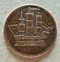 🍁 Prince Edward Island, Ships, Colonies & Commerce Halfpenny Token Breton 997🍁