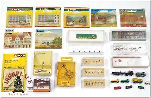 Z 1:220 escala accessorios modelismo figuras autos trucks lamps clock Set