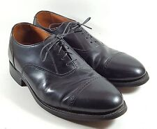 STAFFORD Comfort Plus Mens Black Leather CAPTOE Oxfords Shoes Sz 9 D Made In USA