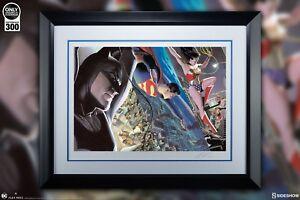 SIDESHOW LIBERTY & JUSTICE TRINITY PRINT WONDER WOMAN Superman Batman ALEX ROSS