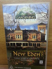 NEW EDEN VHS a history of gardening Australia FREEPOST BAGAIN Chk pics Xmas Gift