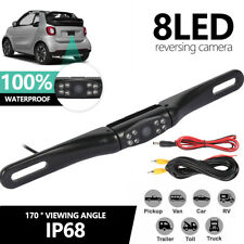 170° 8LED Car Rear View Reverse Backup Parking Camera HD Night Vision Waterproof