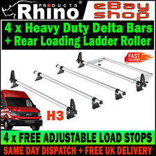 (L4-LONG H3-HIGH) MAN TGE Roof Rack Bars x4 WITH Roller (NO T-TRACK) 2017-2019