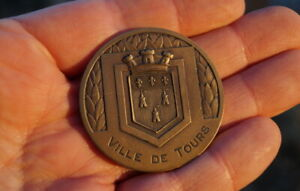 seltene Medaille Vielle de Tours Bronze 58mm erlesenes Sammlerstück