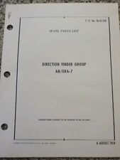 Technical Order Direction Finder Group AN/GRA-7 Aircraft Manuals Army Air Force
