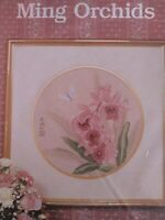 Ming Orchids counted cross stitch kit Serendipity Designs  sealed