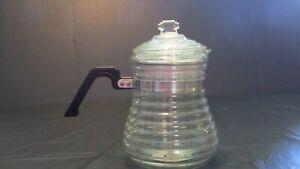 Vtg 1940's Beehive Range Top Percolator 6-Cup Glass Coffee Pot Stem & Insert