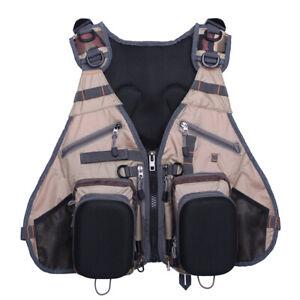 Fishing Backpack Multi-pocket Vest Pack Chest Mesh Tackle Bag Boxes Adjustable