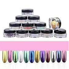 12 Colors Nail Glitter Powder Shinning Nail Mirror Powder Makeup Art DIY Chrome