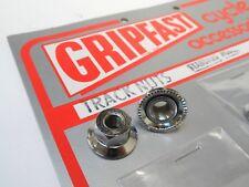 *NOS 1970s GRIPFAST 9mm front track/pista steel axle nuts*