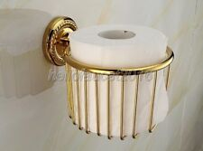 Wall Mounted Bathroom Accessory Gold Color Brass Toilet Paper Roll Holder lba609