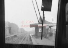 PHOTO  LONGNIDDRY RAILWAY STATION VIEW FROIM THE CAB OF A DMU IN 1962