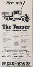 1928 AD.(XH16)~REO MOTOR CAR CO. LANSING, MI. NEW TONNER SPEED WAGON TRUCK