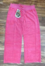 NEW! Juicy Couture Terry Basic Cropped Pants in Resort Pink Size: P