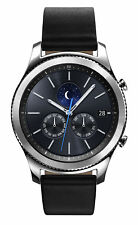 Samsung Gear S3 Classic SM-R770 32.9mm Silver Case Black Band - SM-R770NZSAXSA