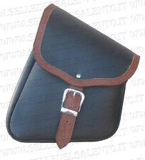 Borsa moto laterale da telaio bicolore harley davidson softail custom bobber