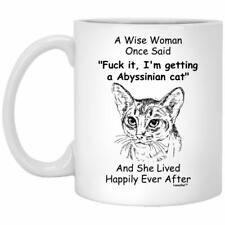 Funny Abyssinian Cat Gift for Kitten Mom Coffee Mug White 11oz 15oz Coffee Mug